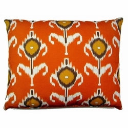 Ikat Orange Outdoor Pillow