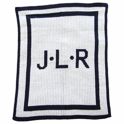 Initials and Double Border Blanket