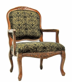 Isabelle Traditional Leopard Accent Chair