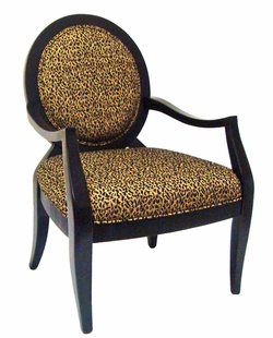Jessica Leopard Accent Chair