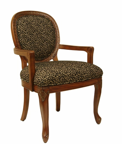 sc 1 st  Anderson Avenue & Katy Leopard Accent Chair - Accent Chairs
