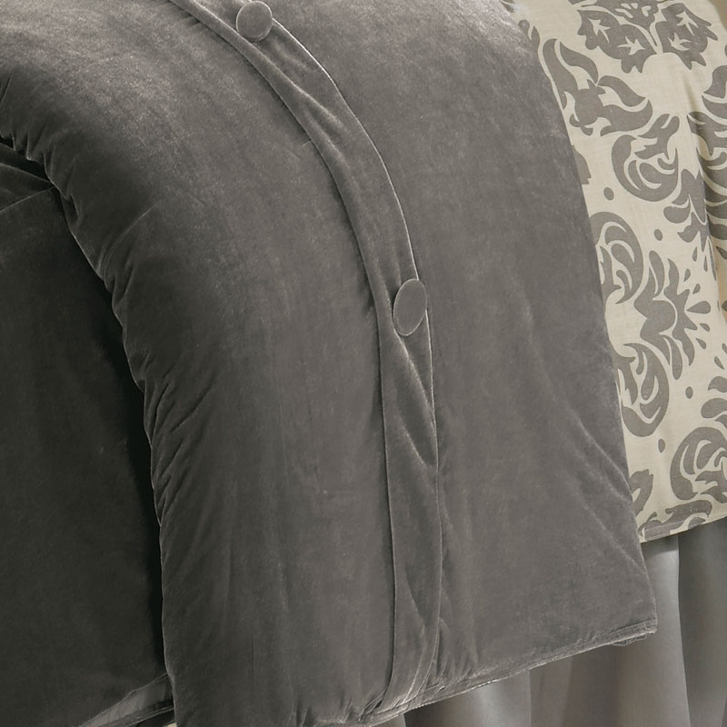 matalan grey velvet detail duvet main rails ixlib product cover