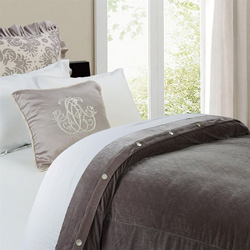 Kerrington Slate Velvet Duvet Cover