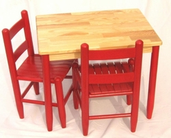 Kid's Custom Color Table and Chair Set