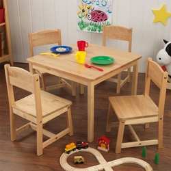 Kid's Farmhouse Table and 4 Chairs - 3 Finishes Available