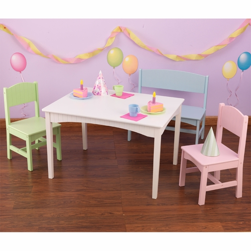 Strange Kids Nantucket Table With Bench And 2 Chairs Machost Co Dining Chair Design Ideas Machostcouk