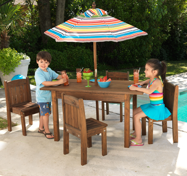 Where To Buy Cafe Kid Furniture: Kid's Outdoor Espresso Table And Stacking Chairs, Kids