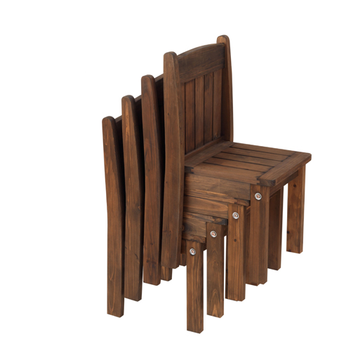 Kids Table And Chairs Set Espresso: Kid's Outdoor Espresso Table And Stacking Chairs, Kids
