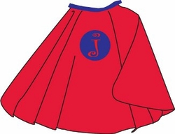Kid's Personalized Red Cape