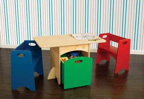 Awesome Kids Table With Primary Benches Bralicious Painted Fabric Chair Ideas Braliciousco