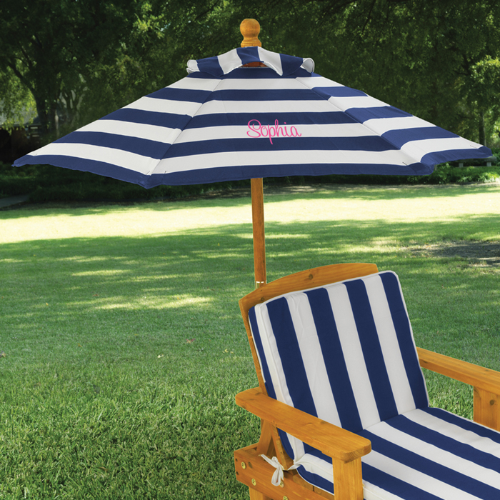 Kids Outdoor Chaise With Umbrella Option To Personalize Kk Out
