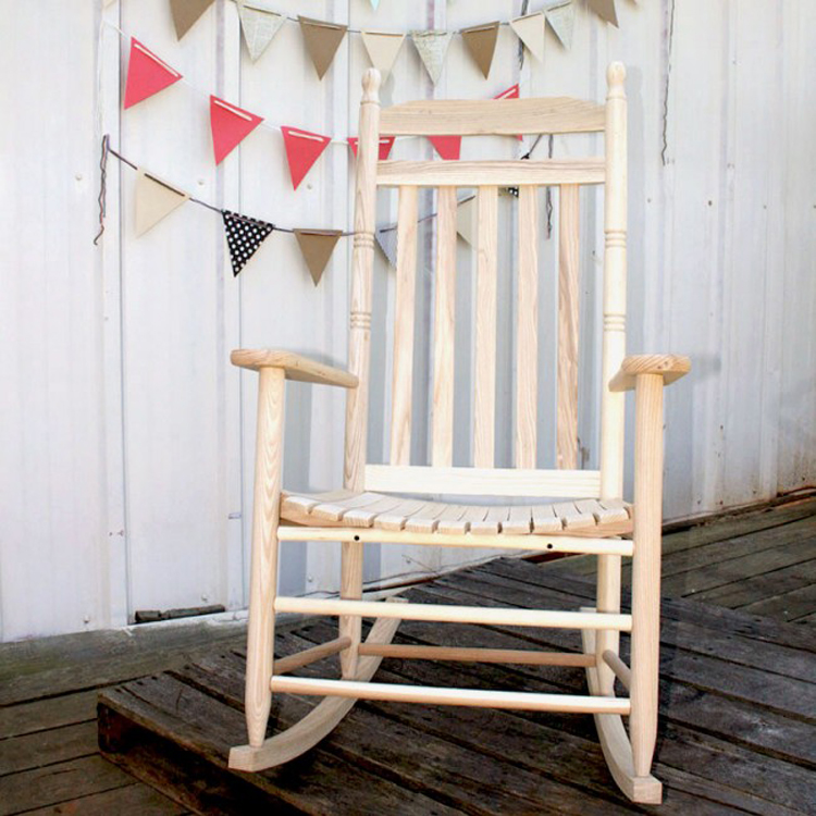 Outdoor Rocking Chairs Large Wooden Rocking Chair Made