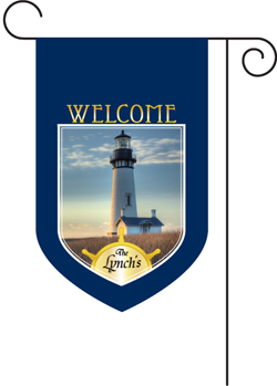 Lighthouse Monogrammed Garden Flag