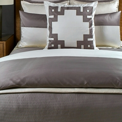 Linea Coverlet Set in Taupe