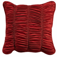 Lorenza Shirred Velvet Accent Pillow