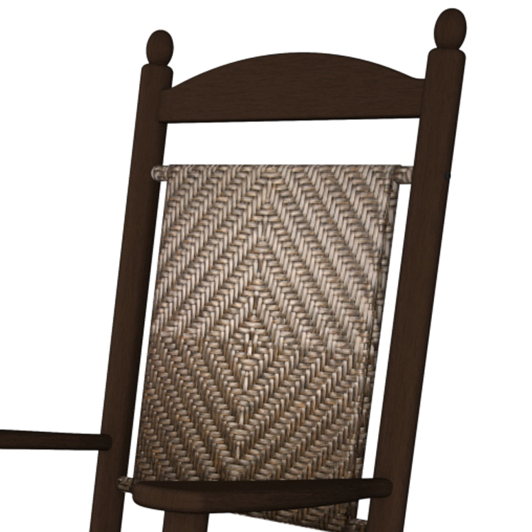 Polywood Mahogany Jefferson Woven Rocking Chair Outdoor