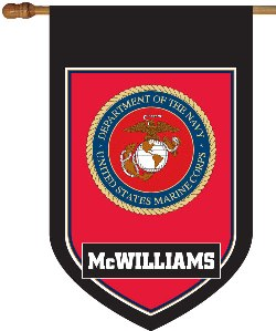 Marine Corp Monogram House Flag