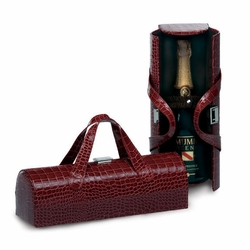Merlot Croc Carlotta Clutch Wine Bottle Tote
