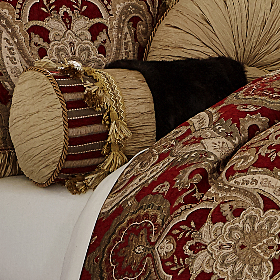 michael amini lafayette bedding  king  u0026 queen luxury bedding set