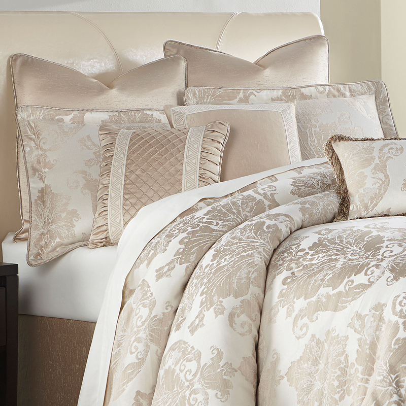 michael amini marbella luxury bedding  king and queen size comforter sets
