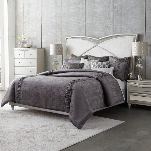 4238a03d02af Michael Amini Remington Bedding, King or Queen size, Gray Luxury Comforter  Set - Products on this page are currently unavailable