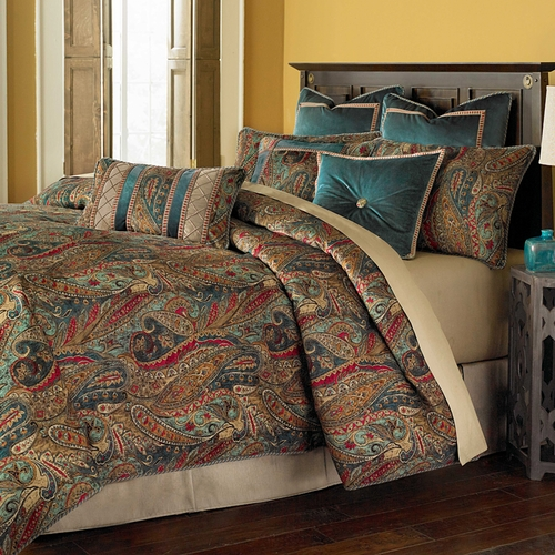michael amini seville luxury comforter set  king and queen size bedding sets