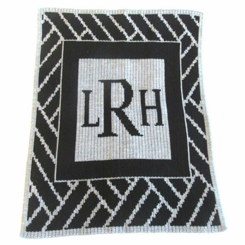 butterscotch blankees modern monogram throw blanket personalized