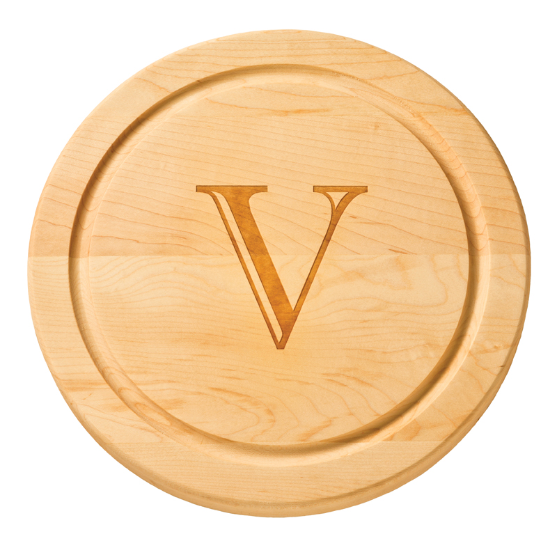 personalized round cutting board 12 inch monogrammed wood cutting boards maple leaf at home. Black Bedroom Furniture Sets. Home Design Ideas