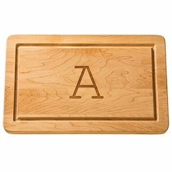 Monogrammed 16 inch Rectangle Wood Cutting Board
