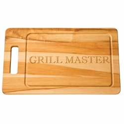 20 inch Personalized Grill Board With Carved Handle