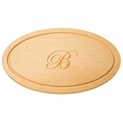 Large 24 inch Oval Wood Cutting Board