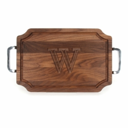 Monogrammed Walnut Scalloped Cutting Board With Polished