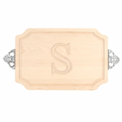Monogrammed Scalloped Cutting Board with Scalloped Handles