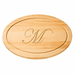 Personalized 18 inch Oval Wood Cutting Board
