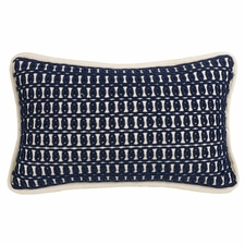 Monterey Dark Blue Embroidered Accent Pillow