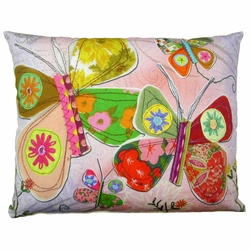 Multi-ColorButterflies Outdoor Pillow