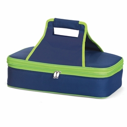 Navy and Lime Entertainer Insulated Food and Casserole Carrier