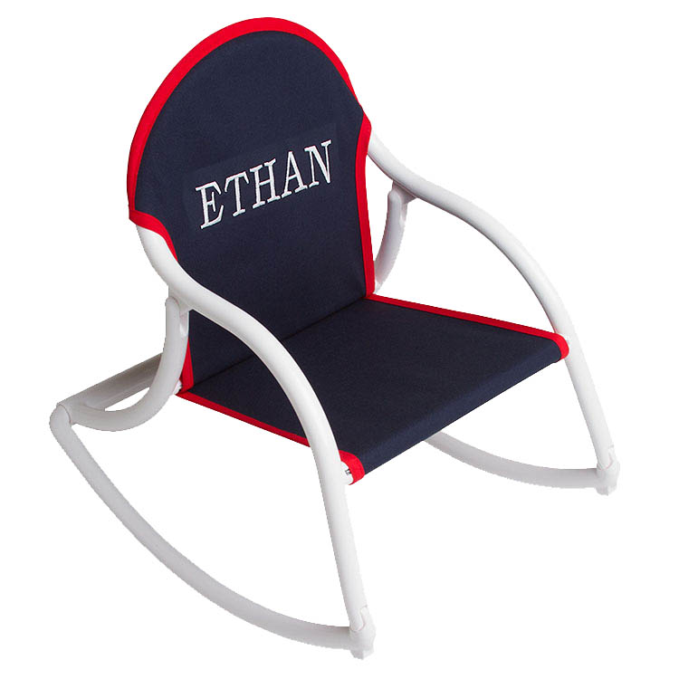 Kids Personalized Folding Rocker Childs Rocking Chair