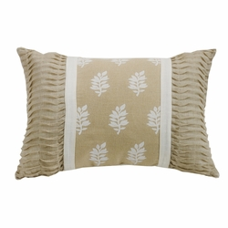 Newport Oblong Pillow With Ruching Ends