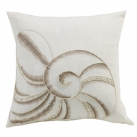 Newport Seashell Embroidery Pillow