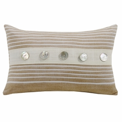 Newport Small Striped Pillow With Trim
