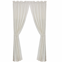 Newport White Linen Curtain