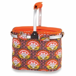 Orange Martini Collapsible Market Tote