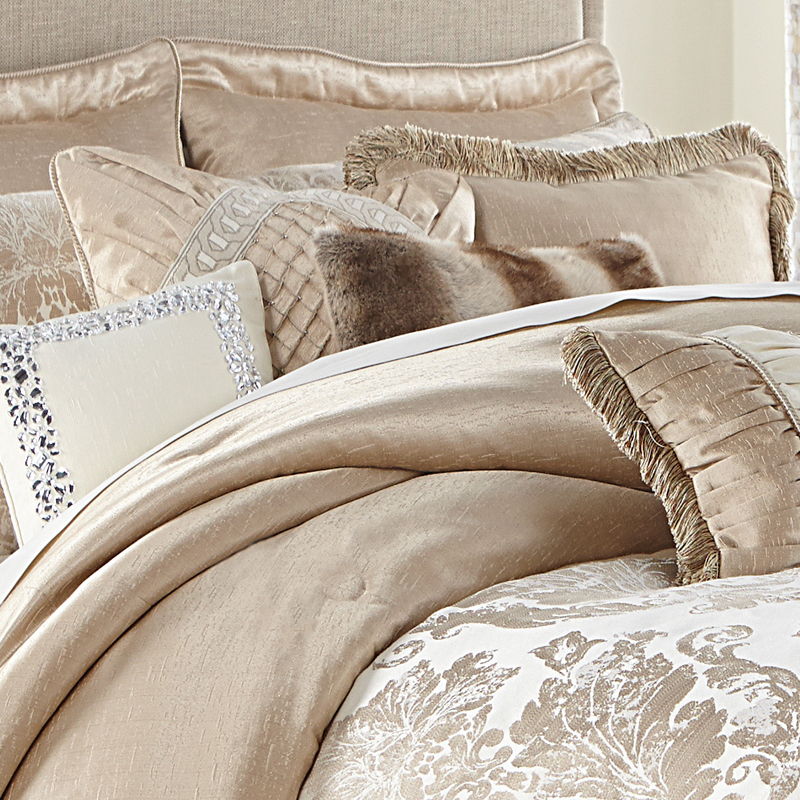 Palermo bedding by michael amini luxury bedding sets for Designer bed pics