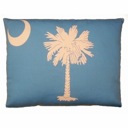 Palm And Moon Outdoor Pillow