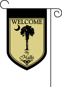 Nice Palmetto Personalized Garden Flag