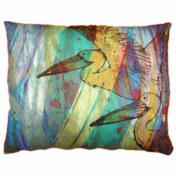Pelicans Outdoor Pillow