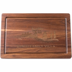 Personalized 18 inch Rectangle Black Walnut Cutting Board