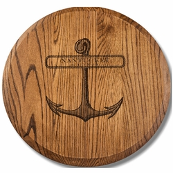 Personalized 22 inch Oak Lazy Susan in Espresso