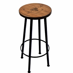 Personalized 30 Inch Wood Bar Stool in Espresso
